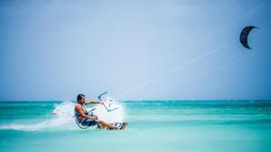 Kite Surfing  Kite Surfing at Palm Beach Aruba