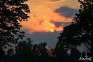 Sonnenuntergang an der Aller-02