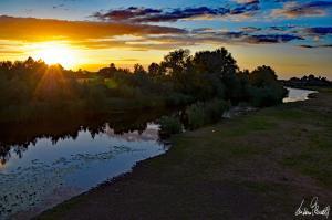 Sonnenuntergang an der Aller-04