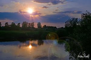Sonnenuntergang an der Aller-09