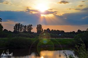 Sonnenuntergang an der Aller in Verden/Aller (Niedersachsen) 2019