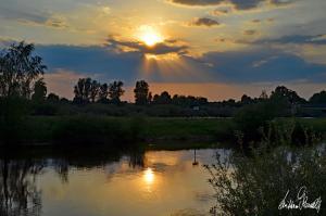 Sonnenuntergang an der Aller-12