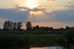 Sonnenuntergang an der Aller-13