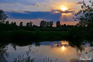 Sonnenuntergang an der Aller-14