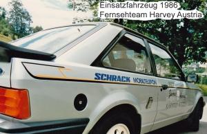 Einsatzfahrzeug Harald Schrittesser alias FS Team Harvey 1986