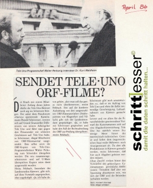 Tele Uno und ORF Auseinendersetzung