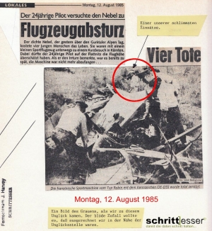 Flugzeugabsturz 1985 in Kärnten