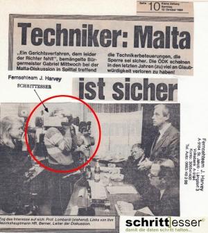 Reportage Malta Staukraftwerk 1985