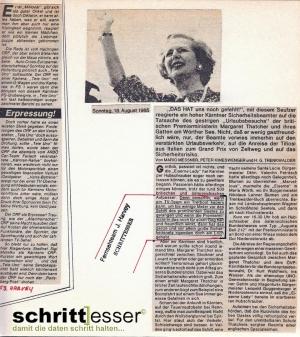 Thatcher 1985