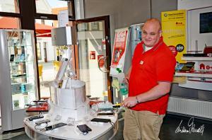 Vodafone-Verkäufer Roy in Verden/Aller. 17.09.2017