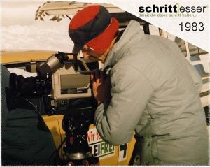 Dreharbeiten Winterreifentest Falkertsee Austria