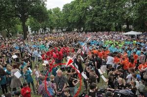 Bläserklassentag Niedersachsen, rund 15.000 junge Musiker trafen sich in Verden im Mai 2016