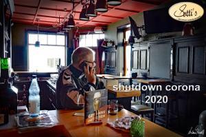 Sotti`s Kneipe in Verden - ein nachdenklicher Sven Sottorf - shutdown Corona 12.05.2020