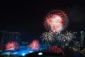 Feuerwerk Singapur 1