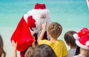 Santa Claus visits