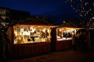 Staende auf dem Sylter Wintermarkt in Westerland
