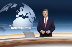 """Claus Kleber in der """"grünen Hölle"""" - im ZDF Studiobereich"""